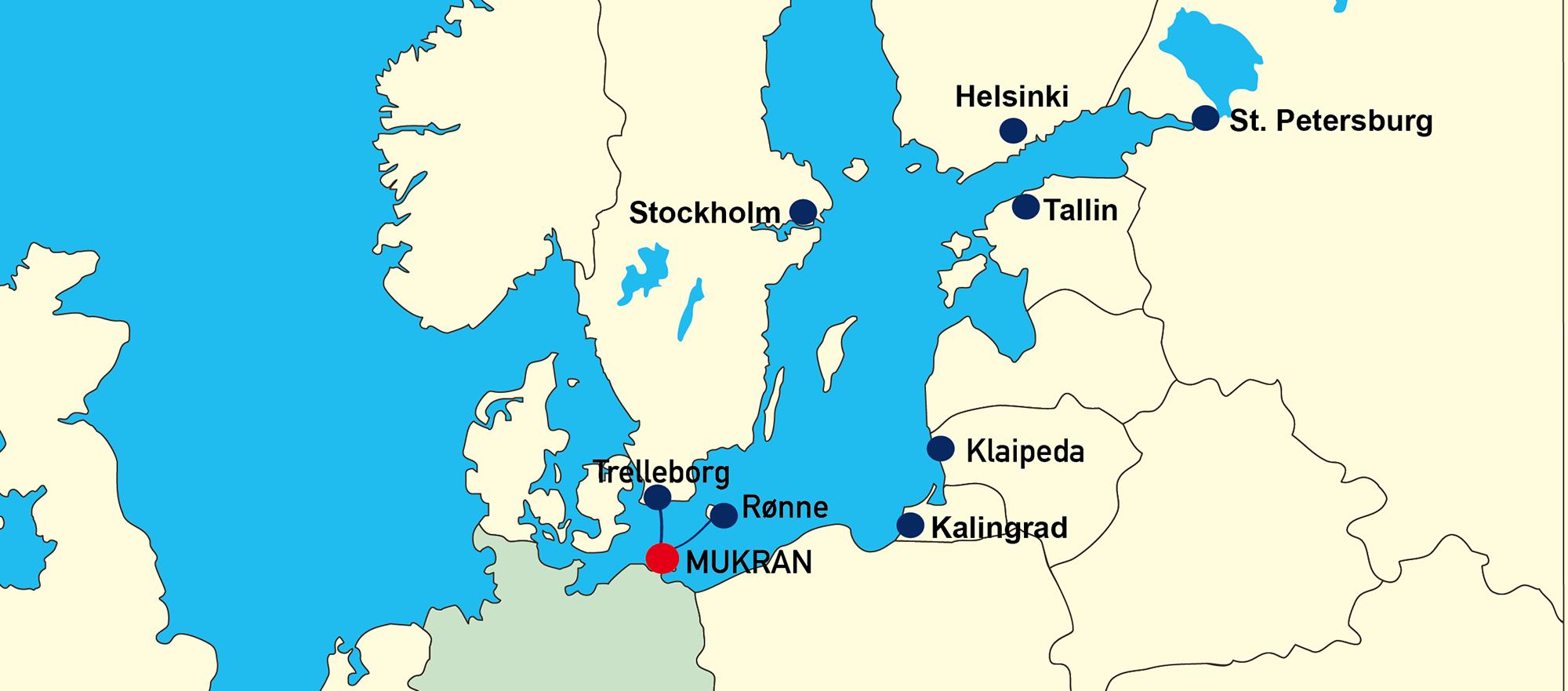 Liniendienste Mukran Port